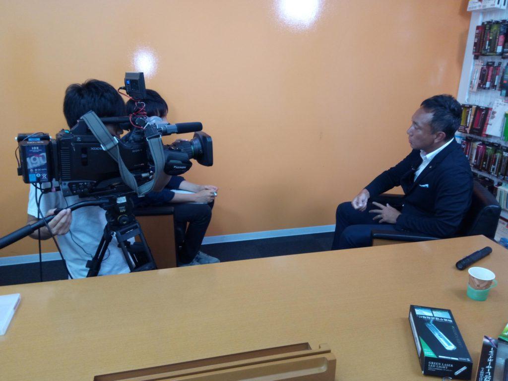 自転車からのレーザー照射事件でめざましテレビに取材されました!